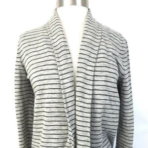 Theory striped open front cardigan